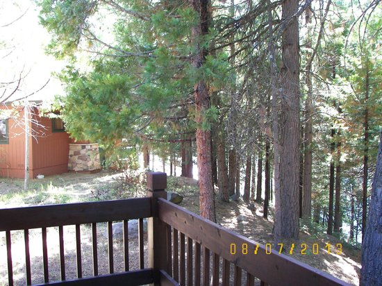 Mount Shasta Resort: The deck of unit 127