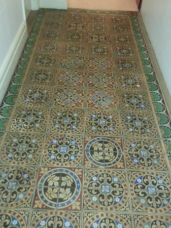 Jackfield Tile Museum: tile carpet