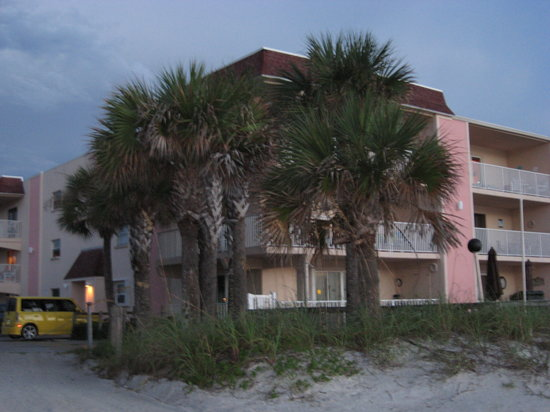 Fifty Gulfside Condominiums: View from beach towards building
