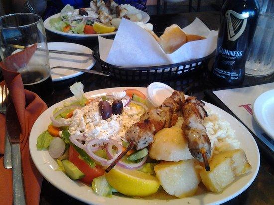 Tony V's Pizza & Restaurant: the souvlaki plate