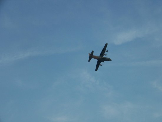 Treasure Bay Casino: A C-130 landing at Keesler Air Force Base