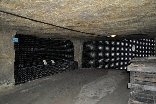 Cave des Producteurs de Vouvray : In the cave.