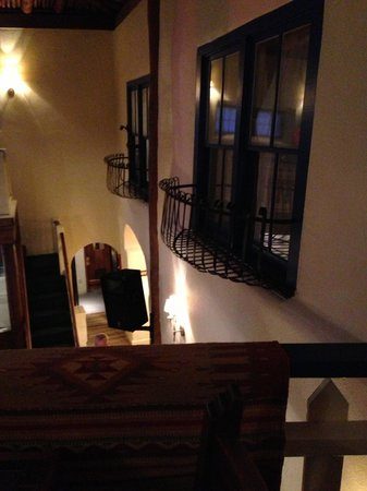 The Historic Taos Inn: view from balcony