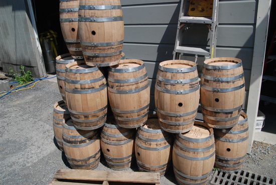 Tuthilltown Spirits: Barrels waiting to be filled