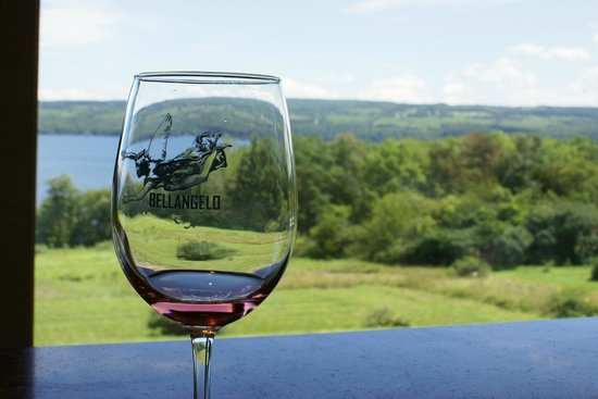 Villa Bellangelo Winery: A view through the glass