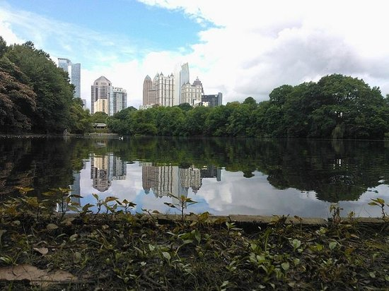 Parque Piedmont: Vista do lago