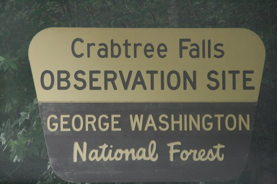 Crabtree Falls: Signage at the falls