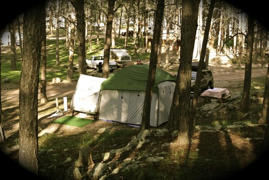 Big Pine Campground: Our site from rocks above