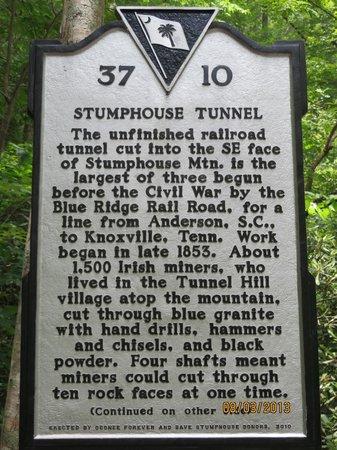 Stumphouse Mountain Tunnel: A little history . . .