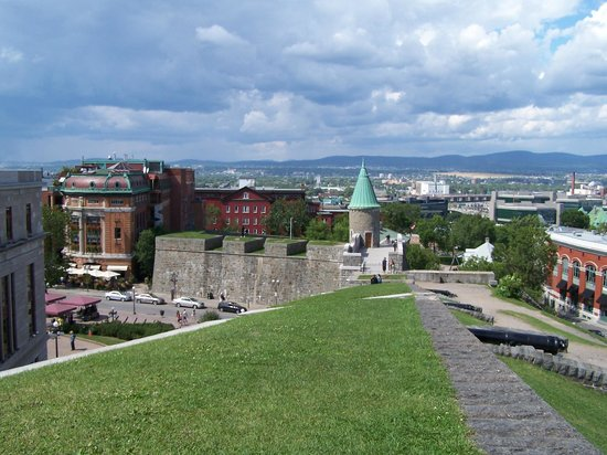 Quebec City Marriott Downtown: View from City Wall towards Place D'Youville