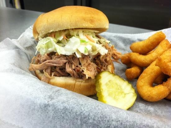 Goodtimes Bar-b-cue: Pulled Pork Sandwich