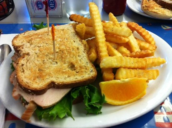 Lighthouse Breakfast & Lunch: Turkey and avocado sandwich!