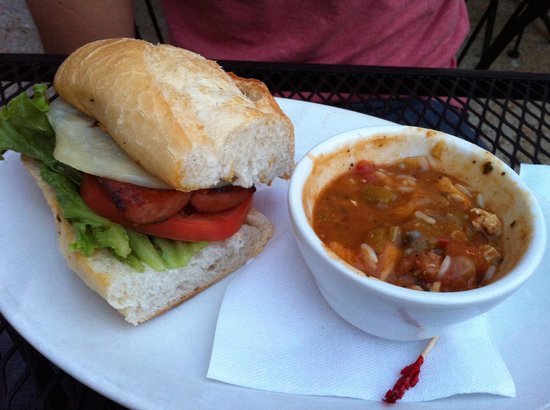 Okra's Cajun Creole : the 1/2 Po Boy sandwich and cup of Gumbo