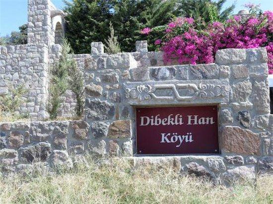 Dibeklihan: Front entrance and sign