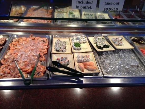 Asian Buffet : sushi included in the buffet!