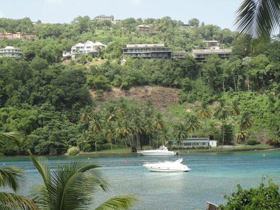 Marigot Beach Club and Dive Resort: View from the Hotel's ground