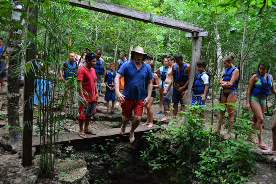 ATV Jungle & Cenote Tour : Jumping into Cenotes from 15 and then 50 feet.