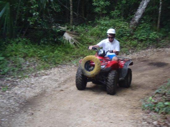 ATV Jungle & Cenote Tour : Driving the ATVs.