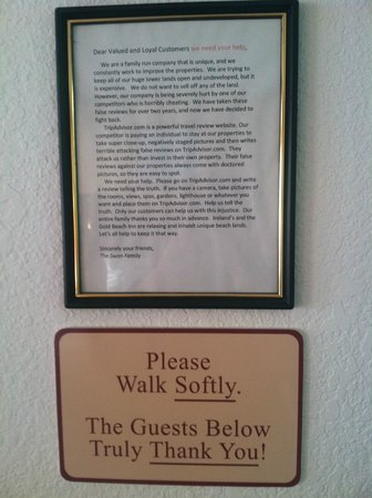 Gold Beach Inn: Off putting note