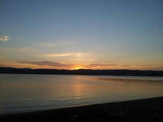 Angostura Recreation Area: sunset in august