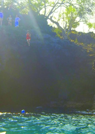 Ocean Safaris Kayak Adventures: cliff jump!! WOO HOO!!