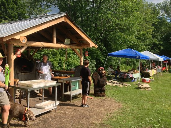 West Townshend Country Store: Cob Pizza oven and Townshend Farmers Market