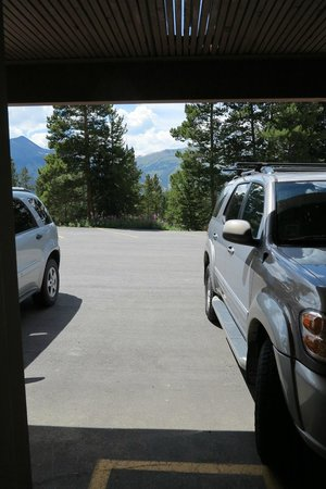 Gold Point Resort: View from the door of our unit, 7ES.
