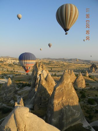 Doubletree by Hilton Avanos Cappadocia : Hot air balloon ride with Kappadokya Balloons
