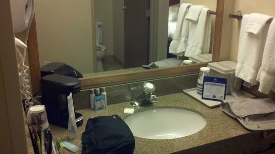 BEST WESTERN Empire Towers: Small bathroom area - no privacy