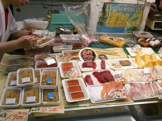 Aomori Gyosai Center: 魚菜センターのお店でお好みのお刺身を購入