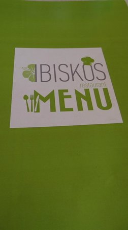 Ibiskos Cafe and Restaurant: The menue list