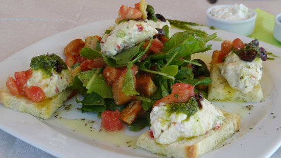 """Ibiskos Cafe and Restaurant: """"Brousketa"""" can be a light snack -it is so flavoursome!"""