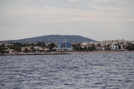 UR Azul Playa: hotel vue depuis la mer