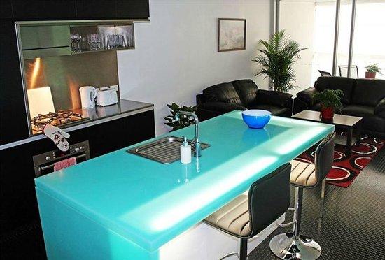 The Miro Apartments: Kitchen Lounge Area