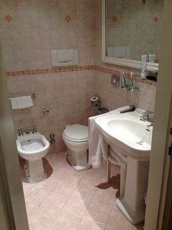 Hotel Astor Viareggio: Bad im deluxe Zimmer