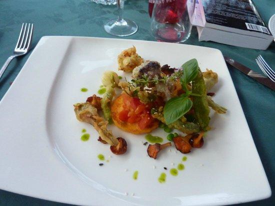 L'Hostellerie d'Acquigny : tempura vegetarian