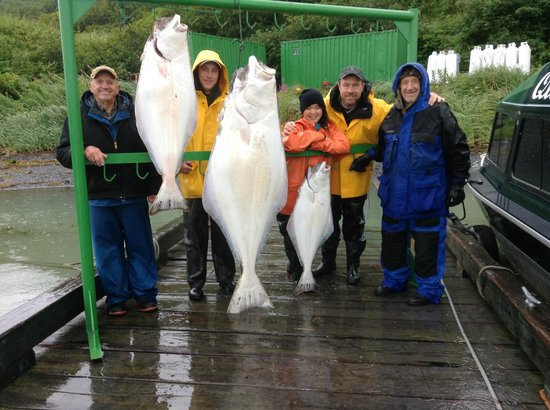 Kodiak Adventures Lodge - Larry Carroll: Our dinner and then some...  155lbs.