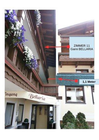 Garni Bellaria: Photo prise de l'extérieur de l'hôtel