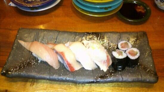 Morimorizushi Kanazawa-ekimaeten: five kinds of buri - buri goten mori