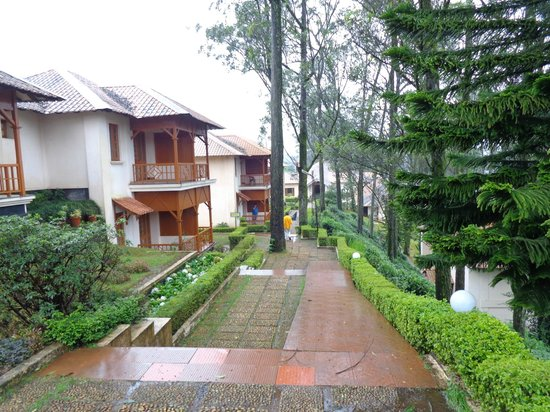 KTDC Tea County Munnar: Beautiful but long walk towards rooms