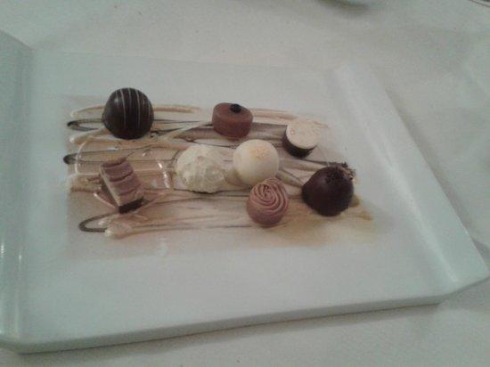 Le Giare: I cioccolatini per chiudere in dolcezza...squisiti!!!