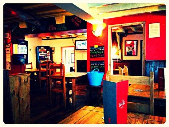 The Castle Inn: The dining and bar area
