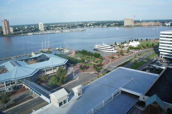 Norfolk Waterside Marriott: view from our room
