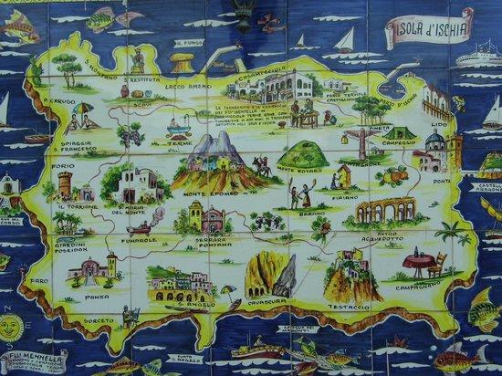 Hotel Bellevue Benessere e Relax : Mappa murale in ceramica