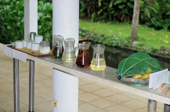 Jiwa Damai Organic Garden & Retreat: Mint, Lemon Grass, Ginger and Black tea drinks