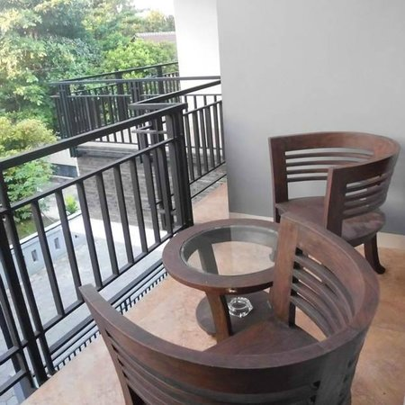 Andelis Homestay: Terrace, enjoying morning breeze