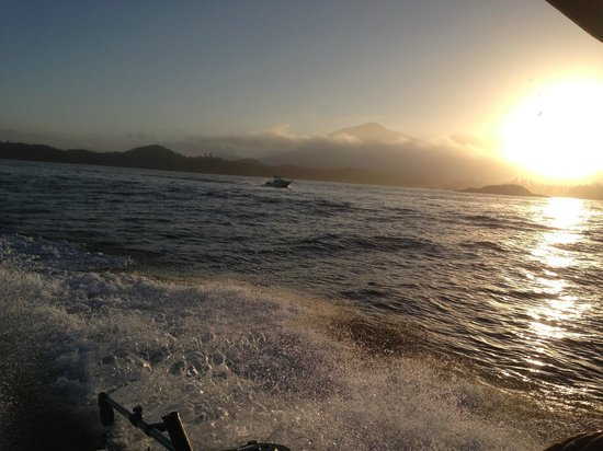 Tofino Fish Guides - Private Charters: Oh man heading for the fish!!