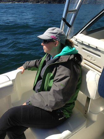 Tofino Fish Guides - Private Charters: Tough fishing huh kid! So mellow....