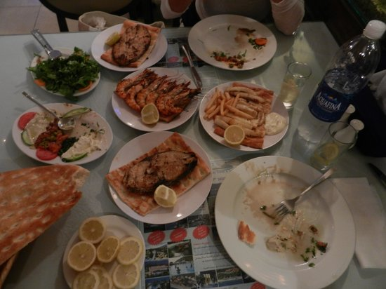 Turkish House Restaurant : The table with the dishes