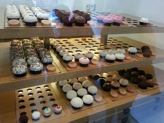 Sprinkles cupcakes: bancone dei Cupcakes